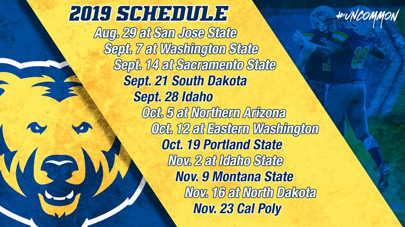 Announces 2019 Schedule And Future Opponents University Of Northern Colorado Athletics